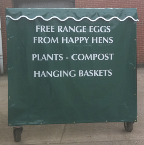 Awning for fruit and veg stall